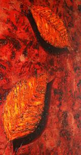 Textured Leaves by Lynette Kaeding