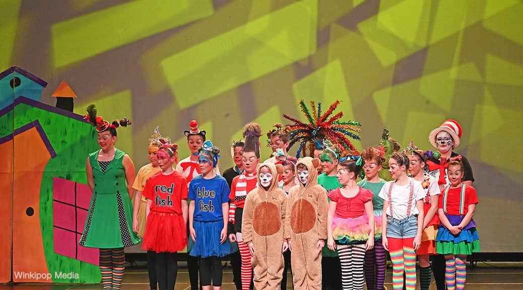 Lobethal Lutheran School on stage at the Adelaide Entertainment Centre for the Wakakirri Story-Dance Challenge. The school won the State's Best Popular Culture Story Award and Best Hair & Makeup Award. Photo by Winkipop Media
